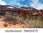 Landscape Arch Desert Scene In...