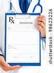 portrait of a friendly doctor... | Shutterstock . vector #98623226