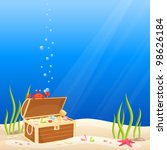 cute crab making bubbles on the ... | Shutterstock .eps vector #98626184