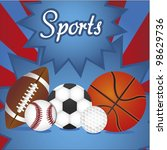 group of sports balls with... | Shutterstock .eps vector #98629736