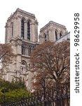 notre dame de paris cathedral... | Shutterstock . vector #98629958