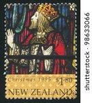 new zealand   circa 1995  stamp ... | Shutterstock . vector #98633066