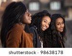 outdoor portrait  of happy... | Shutterstock . vector #98638178