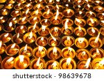 Candles At Swayambhunath Templ...