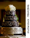 a chocolate wedding cake with... | Shutterstock . vector #98642846