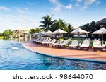 tropical swimming pool in... | Shutterstock . vector #98644070