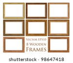 vector wooden frame set. | Shutterstock .eps vector #98647418