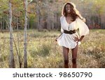 sexy african american in the... | Shutterstock . vector #98650790