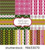 set of vector paper for... | Shutterstock .eps vector #98653070