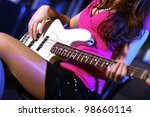 young guitar player with... | Shutterstock . vector #98660114