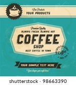retro vintage coffee background ... | Shutterstock .eps vector #98663390