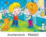 children 213 | Shutterstock . vector #986663