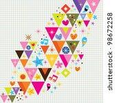 fun triangles background - stock photo