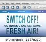 illustration depicting computer ... | Shutterstock . vector #98678330