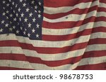 used fabric us flag   close up | Shutterstock . vector #98678753