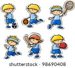 cartoon sport icons | Shutterstock .eps vector #98690408