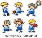 cartoon sport icons | Shutterstock .eps vector #98690408