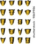 a set of 20 different mask... | Shutterstock .eps vector #9869986
