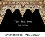 ancient thai style sculpture frame - stock photo