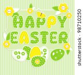 greeting card for easter in... | Shutterstock .eps vector #98710250