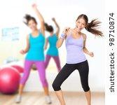 fitness dance studio class.... | Shutterstock . vector #98710874