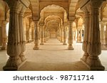 Columned Hall Of Amber Fort....
