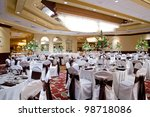 a banquet hall or other... | Shutterstock . vector #98718086