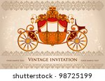 royal carriage with  horse on... | Shutterstock .eps vector #98725199
