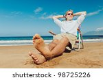 Young Attractive Man Relaxing...