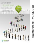 template with a crowd of... | Shutterstock .eps vector #98737010