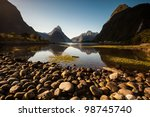 milford sound  new zealand... | Shutterstock . vector #98745740