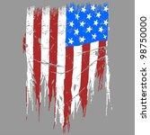 american vector flag drawing... | Shutterstock .eps vector #98750000