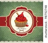 Vintage Cupcake Frame Template...