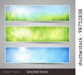 Nature Bokeh Banners   Three...
