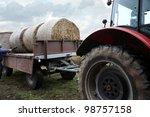 Tractor Loaded Feed Straw Near...