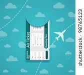 vector air ticket on sky...   Shutterstock .eps vector #98765123