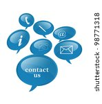 contact signs | Shutterstock . vector #98771318