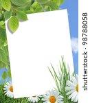 Ecology Concept. Blank Sheet O...