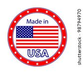 made in usa illustration | Shutterstock .eps vector #98794970