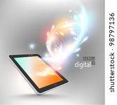 stylish futuristic tablet... | Shutterstock .eps vector #98797136