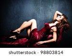 Elegant Sensual Young Woman In...