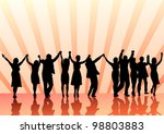 vector image of young people.... | Shutterstock .eps vector #98803883