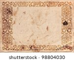 archaic  vintage frame on old... | Shutterstock . vector #98804030