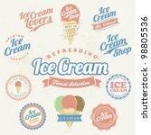 retro ice cream label and... | Shutterstock .eps vector #98805536
