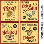 set of retro vintage tin signs... | Shutterstock .eps vector #98806628
