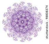 abstract isolated vector flower.... | Shutterstock .eps vector #98808374