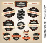 premium and high quality labels ... | Shutterstock .eps vector #98813099