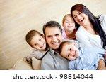 portrait of a happy family...   Shutterstock . vector #98814044