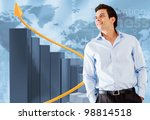 successful businessman with a... | Shutterstock . vector #98814518