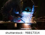 migmag welder at work | Shutterstock . vector #98817314